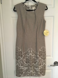 Tan/white dress brand new  Kitchener, N2P 2V2