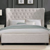 King size bed (material velour) Laval, H7T 2X7