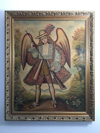 Antique oil painting angel  Little Falls