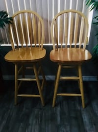 two brown wooden windsor chairs Gilbert, 85296