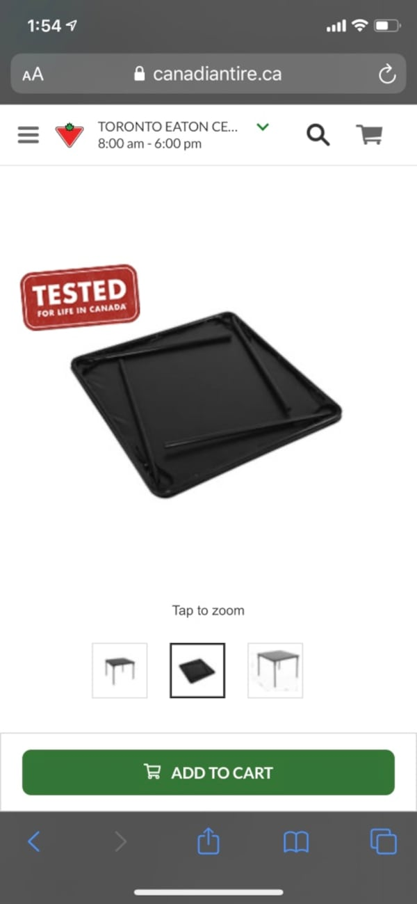 Foldable Black table Canadian tire ( orig price 69 plus tax) cheapdeal 5a66de45-221a-4407-a6d9-ece0001cb83f