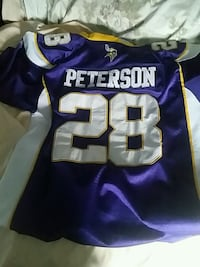 b72a41e50 Used Purple Stitched and hemmed Adrian Peterson Jersey for sale in ...