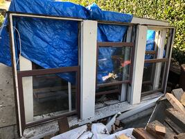 Old double hung window units