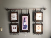 Metal wine sign $20.00-great condition Bakersfield, 93311