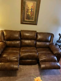 Duel sided recliner couch  Brandon, 33510