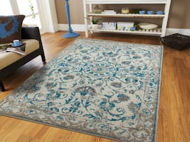 new Traditonal area rug blue rugs 5x8 medium rug