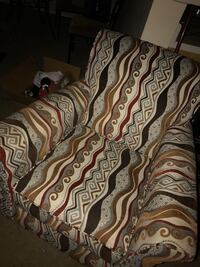 Brown and white floral textile chair  Shreveport