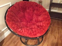 round red and black moon chair