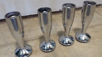 POLISHED CHROME SOFA/CHAIR LEGS, SET OF FOUR  Toronto