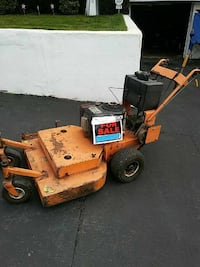 orange and black stand alone push mower Scranton