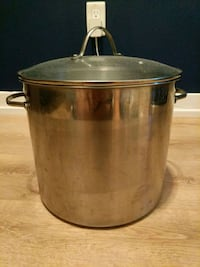 5 gallon stock pot with glass lid