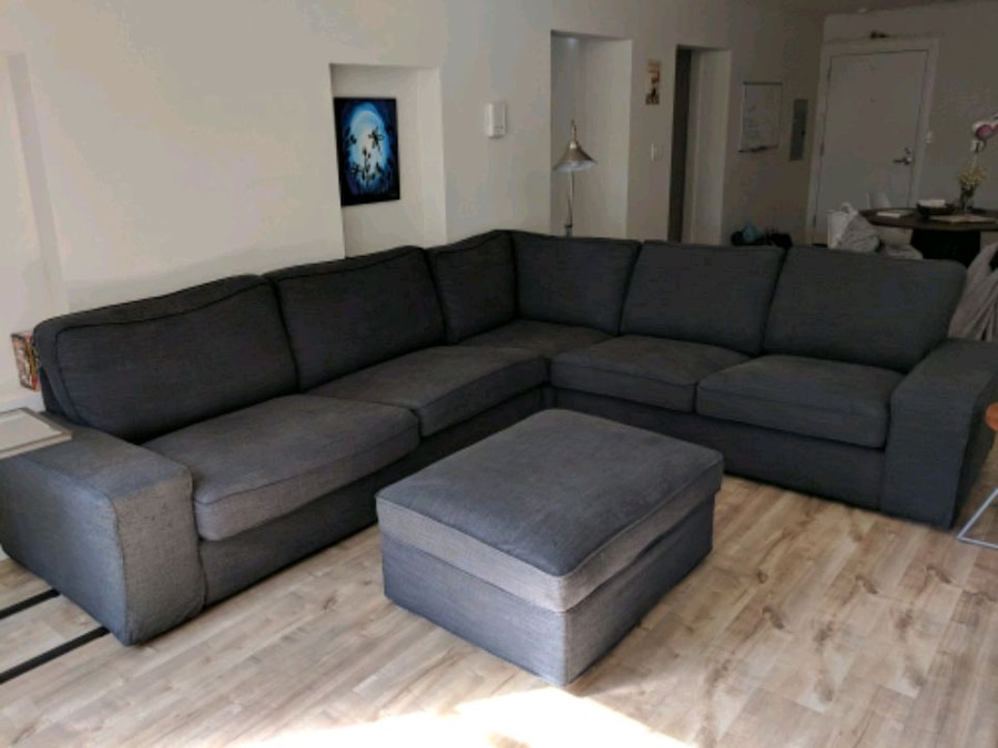 used ikea kivik 5 seat sectional and ottoman for sale in san rh us letgo com
