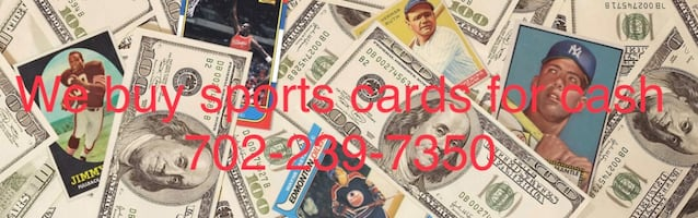We buy sports cards and sports memorabilia for cash.