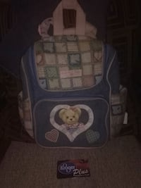baby's blue and white bouncer 279 mi