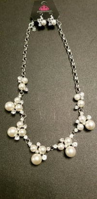 silver and white beaded necklace Arlington, 76014