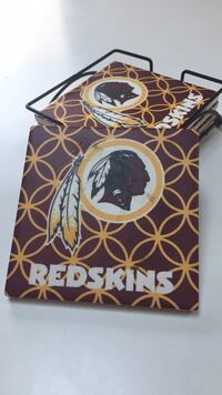 Ceramic Redskins coasters with holder Gaithersburg, 20882