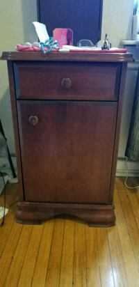 brown wooden 2-drawer chest Toronto, M4P 2K5