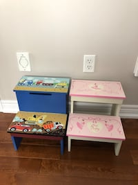 Children's Footstool's - Boy and Girl Vaughan, L4H