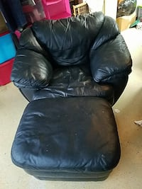 black leather chair from Rooms To Go