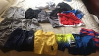 11 pairs of boys shorts -4 bathing suits size 5-6-7