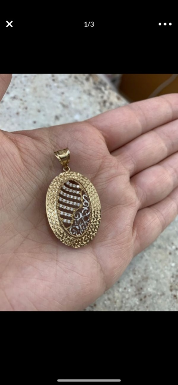 14k real gold pendant 0