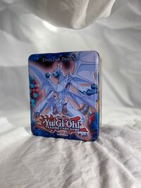 Box of Yu-Gi-Oh cards