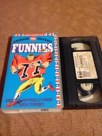 AMERICAN PRO FOOTBALL FUNNIES VHS KASET