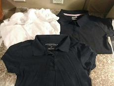 black and white polo shirts
