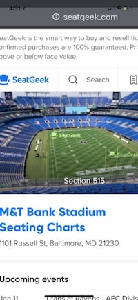2 Ravens Divisions Playoff Tickets OBO