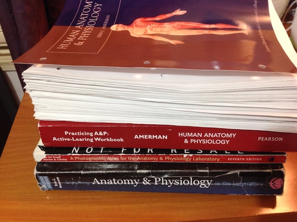 Human anatomy and physiology textbooks for college anp scb 203 and scb 204  classes