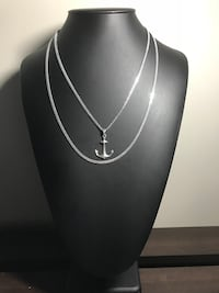 2 sterling silver Cuban chain with a anchor pendant  Guelph, N1L 1N2