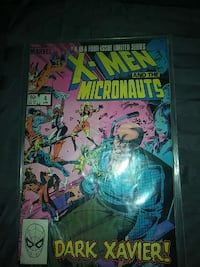 X-MEN and the Micronauts comic. 1984 #4