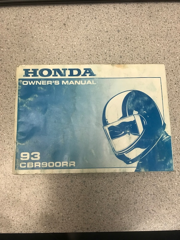 Honda Owners Manual >> Used Honda Owner S Manual 93 Cbr900rr Box For Sale In Des Plaines