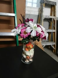 white and pink petaled artificial flower arrangement Chicago, 60641