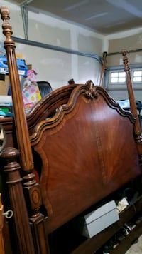 Wooden Queen head and footboard