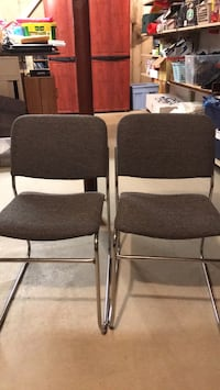 Gray cloth, metal frame chairs. Selling pair  Nazareth, 18064