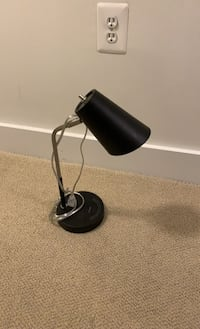 Wireless phone charging desk lamp