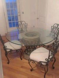 Bombay round glass table