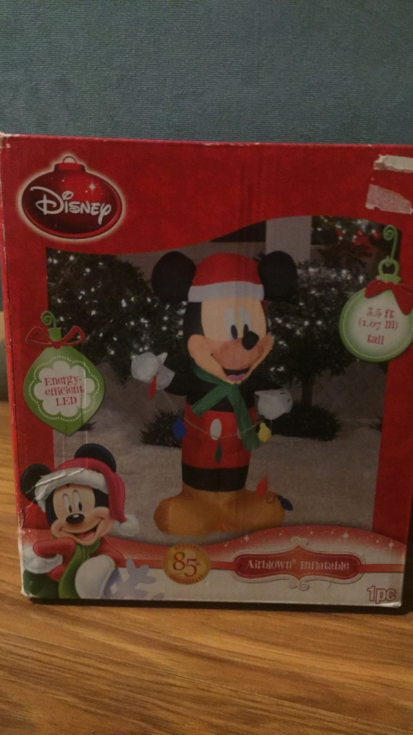 giant 35 ft 85th anniversary airblown inflatable mickey mouse christmas decoration - Mickey Inflatable Christmas Decorations