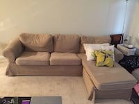 IKEA sofa beige fabric (extra brown fabric to change sofa color available)