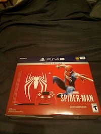 Ps4 pro Spiderman limited edition console. 847 mi
