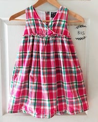 pink, yellow, and blue plaid sleeveless dress Alhambra, 91803