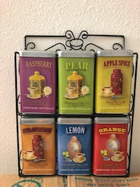 6 empty tea bag metal containers  Charlotte, 28226