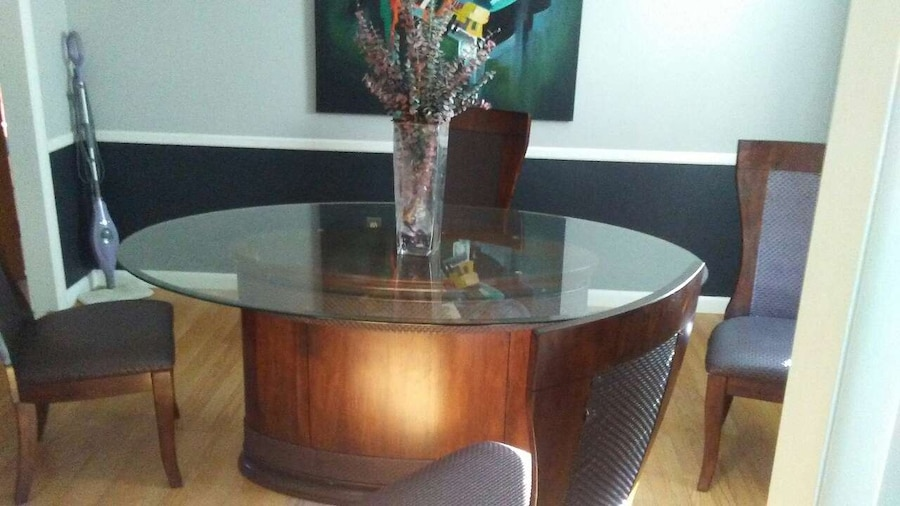 letgo glass dining room table 4 chairs in hickory nc