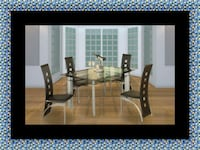 Glass dining table with 4 chairs Washington, 20019