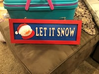 Christmas decor let it snow sign  1818 mi