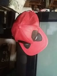 red and black leather backpack Kitchener, N2G 3S8