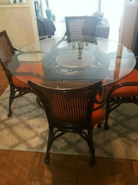 5 piece coated wicker dining set. Greenwood Lake, 10925