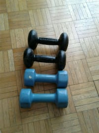 two pairs of dumbbells Toronto, M2H 1N8