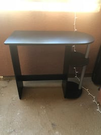 black wooden 2-layer TV stand Los Angeles, 91364